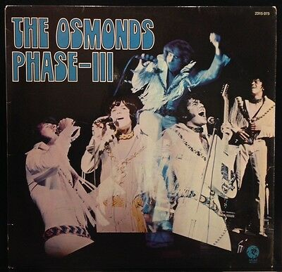 The Osmonds - Phase - III - VG+ Vinyl LP