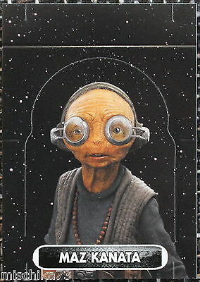 Topps Star Wars- Force Attax Extra Nr.137 Aufstellkarte Maz Kanata