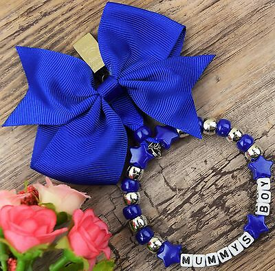 Personalised stunning pram charm in blue for baby boys