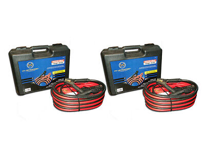 Heavy Duty 1 Gauge 25 Ft Booster/jumper Battery Cables-100% Copper-Package Of  2
