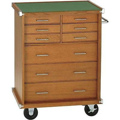 """H7717 Grizzly 26"""" Oak 9 Drawer Cabinet"""