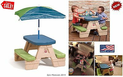 Picnic Table Kids Seat Bench Chair Dining Play Patio Garden Yard Outdoor Indoor