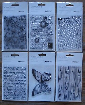 U Choose) 6 Background STAMPS Floral Lace Postmarks Script Butterfly Fishing Net
