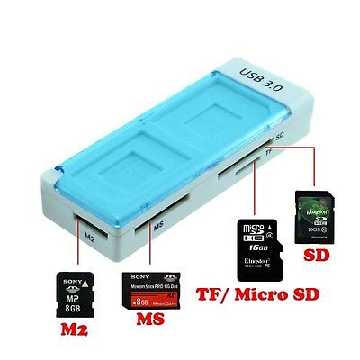 5Gbps Speed USB 3.0 MicroSD TF MS Card Reader Adapter Kartenleser SD Card DE#A