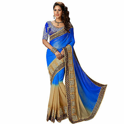 Indian Pakistani Bollywood Saree Wedding Saree Ethnic Party Wear Designer S 8284
