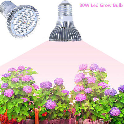 E27 30W LED Grow Light Full Spectrum Lamp Bulbs for Veg Plants Hydroponic Bloom