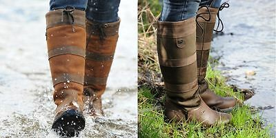 Dublin Tall River Waterproof Country Boots - Chocolate and Dark Brown