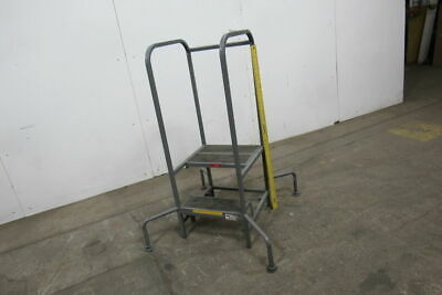 PW PLATFORMS 2 Step 300Lb. Capacity 2 Step Mobile Office Stand