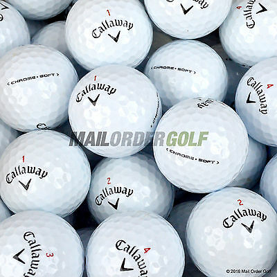 Callaway Chrome Soft Golf Balls - Pearl A Grade - 12 24 40 48 50 100 Lake UK Del