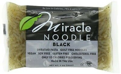 Miracle Noodle Shirataki Pasta, Black Angel Hair, 7-Ounce (Pack of 6)
