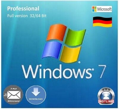 Microsoft Windows 7 OEM Product-Key Prof 32/64 Bit SP1 Multilingual full version