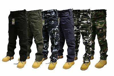 ARMY CARGO Cambat Mens Work Trouser Camo Military CAMOUFLAGE Pants All Sizes