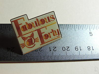 Central Alberta Theatre Fabulous Forty 1970 - 2010  Lapel Hat Pin 18A