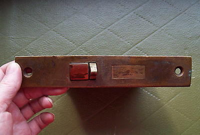 Large Antique Victorian Russell Erwin Entry Mortise Door Lock Brass Russel Old!