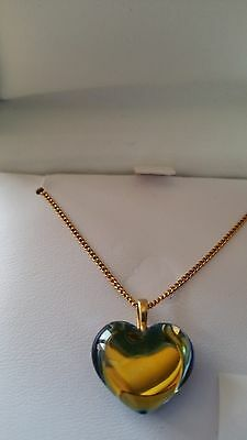 BACCARAT BABY COEUR HEART 18K SOLID GOLD SCARABEE NECKLACE (made in France)