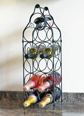 11 Bottle Metal Wine Rack Kitchen Organiser Holder Storage Display Table Stand