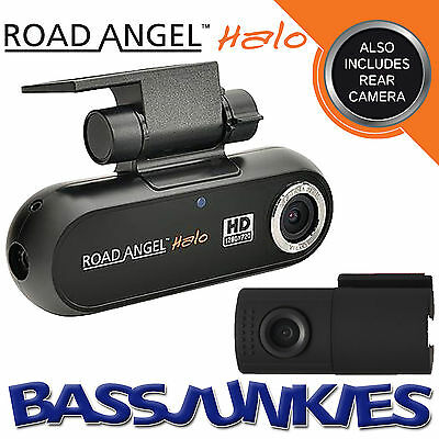 Road Angel Halo 16GB Twin Front & Rear Action Witness Dash Cam Camera Recorder