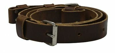 """Showman Medium Brown Leather 1.5"""" wide BACK CINCH with Billet Straps Made in USA"""
