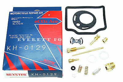 New Quality Carburetor Rebuild Kit 73-75 Honda XL175 Carb Repair Set K0-K2 #V127