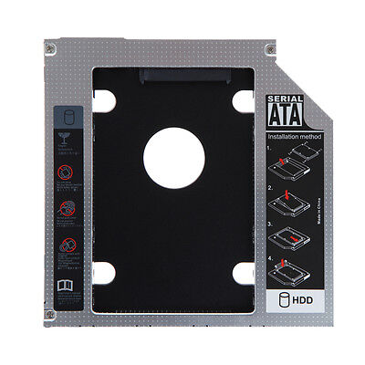 Universal SATA 2nd HDD SSD Caddy Adapter for Laptop 9.5mm Optical Hard Drive Bay