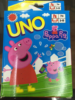 Peppa Pig Uno Cards Family Fun Playing Card Game Kit  Toy Board Game
