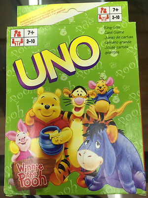 Winnie The Pooh Uno Cards Family Fun Playing Card Game Kit  Toy Board Game