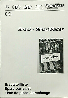 Vending Machine Manual - Wurlitzer Snack Smartwaiter - Spare Parts List