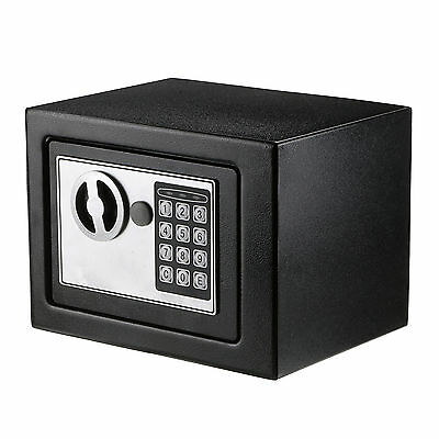 Black Personal Digital Electronic Security Safe Box Access Safes Home Office Use