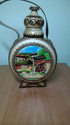 handmade wooden vessel bottle hand made gift painted pyrography whiskey wine