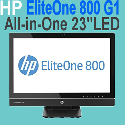 """HP EliteOne 800 G1 23""""Inch (All-In-One) Core i5-4670S 3GHZ 8GB 240GB SSD WIN-10"""
