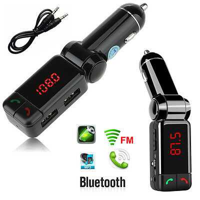 Bluetooth FM Transmitter In-Car AUX-In Audio MP3 Player USB SD Charger Kit Phone