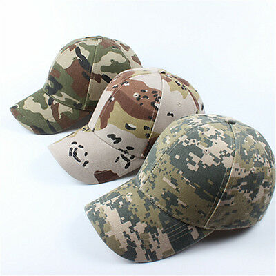 Tactical Adjustable Baseball Cap Camouflage Hat Outdoor Camo for Camping Hunting