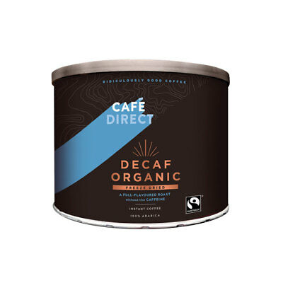Cafe Direct Decaf  Instant Coffee 500g - Fairtrade Organic Roast Decaffeinated