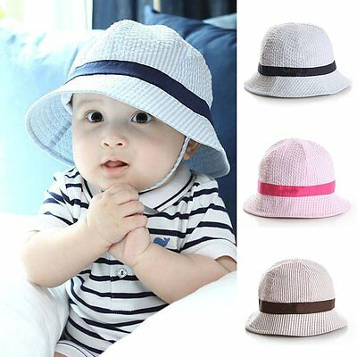 Cute Toddler Infant Baby Boy Girls Outdoor Summer Cotton Sun Hat Cap Bonnet 1-3Y