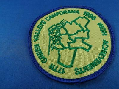 BOY SCOUTS  17th GREEN VALLEYS CAMPORAMA 1996 PATCH COLLECTOR BADGE
