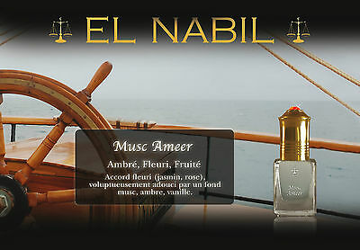 Musc Ameer - El Nabil Musc Luxury Atar Oil Perfume Roller Free From Alcohol