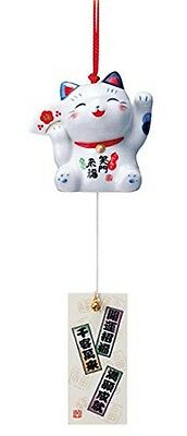 Furin MANEKINEKO lucky cat MINO ware wind chime bell made in japan