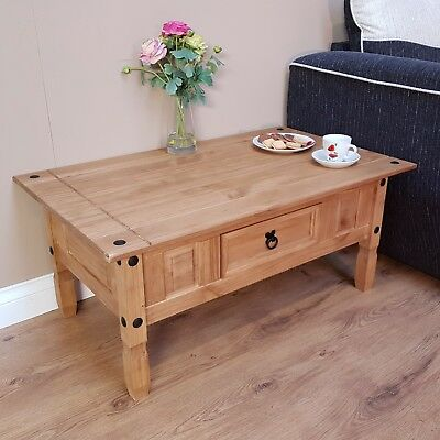 Mercers Furniture Corona Mexican Solid Pine 1 Drawer Coffee Table