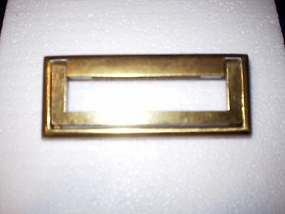 Vintage Modern Industrial Drawer Pulls Steampunk Sleek Brass (2) Piece Set of 6
