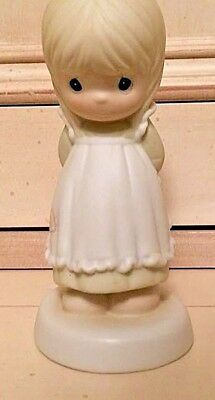 "Precious Moments ""God is Love Dear Valentine"" Porcelain Figurine"