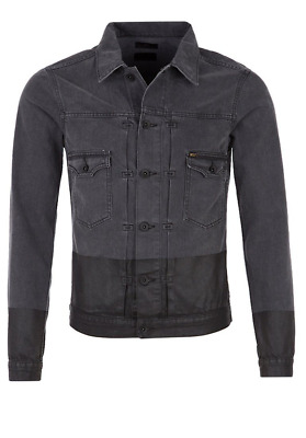 TIGER OF SWEDEN Two Black Denim Jacket - XL - RRP £230 - Stunning - BNWT