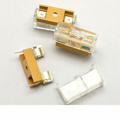 6 pcs - AGC PCB Fuse Holder Chassis Mount 6X30mm with Cover & USA FREE SHIPPING!
