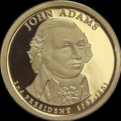 "2007 S John Adams Presidential Dollar Gem Deep Cameo ""PROOF"" US Mint Coin"