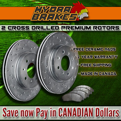 FITS 2005 2006 2007 FORD CROWN VICTORIA Drilled Brake Rotors CERAMIC F