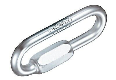 Petzl P15 7mm Long Opening Maillon Rapide - Galvanised Steel 25KN PPE - Rigging