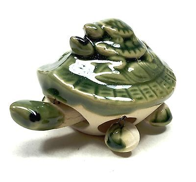 "3"" Ceramic Turtle Figurine Animal Asian Style Chinese Statue Long Life Symbol"