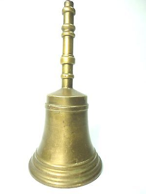 Vintage brass School teacher hand Bell , dinner, Door,shop Bell  5.5/8  x  2.1/2