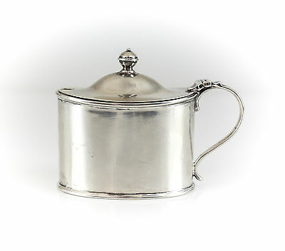 Atkin Bros. Sheffield Sterling Silver Cobalt Glass Lined Condiment Jar, c1903
