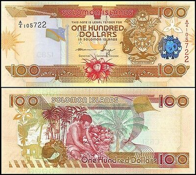 Solomon Islands 100 Dollars, 2009, P-30d, UNC