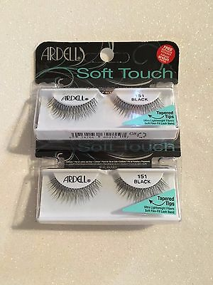 f9a673d7f7c ARDELL SOFT TOUCH Eyelashes - 151 Black - $17.92   PicClick